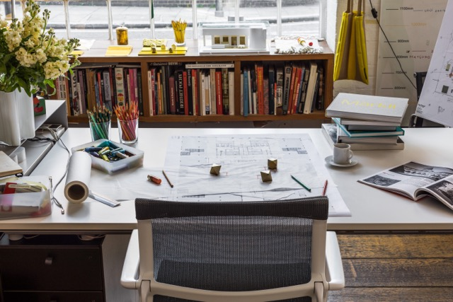 Sevil Peach Desk